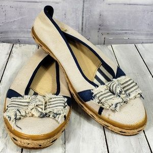Sperry Seersucker Canvas flats